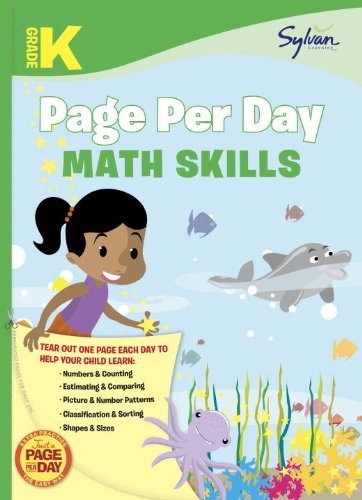 Kindergarten Page Per Day: Math Skills
