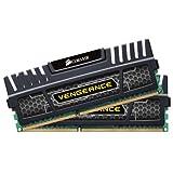 Corsair CMZ16GX3M2A1600C10 Vengeance 16GB (2x8GB) DDR3 1600 Mhz CL10 XMP Performance Desktop Memory Schwarz