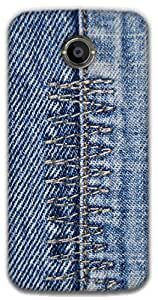 The Racoon Grip Denim Zigzag hard plastic printed back case / cover for Moto X 2nd Gen