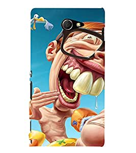 Laughing Cartoon 3D Hard Polycarbonate Designer Back Case Cover for Sony Xperia M2 Dual D2302 :: Sony Xperia M2