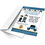 Police Birthday Party Invitation | Set of 16 | Personalized | Email Wording