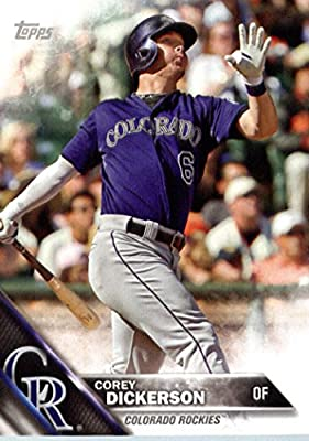 2016 Topps Team Edition #CRO-7 Corey Dickerson Colorado Rockies Baseball Card