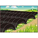 Sunshade Greenhouse Outdoor Row Tunnel with 90% Shade Cloth For Plants,Plant Cover &Frost Blanket for Season Extension and Seed Germination, Medium 10ft Longx 25