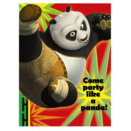Kung Fu Panda '2' Invitations w/ Envelopes (8ct)