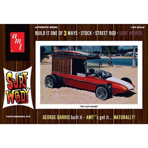 AMT 976 George Barris Surf Woody 1:25 Scale Plastic Model Kit - Requires Assembly (Hearse Model compare prices)