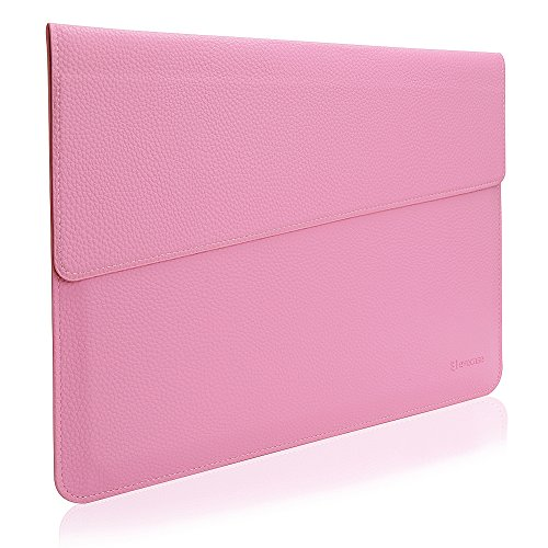 MacBook 13.3 Sleeve, Evecase Sottile in Pelle Premium Custodia Portatile per 13.3 pollici MacBook Air/MacBook Pro/Retina/iPad Pro - Rosa