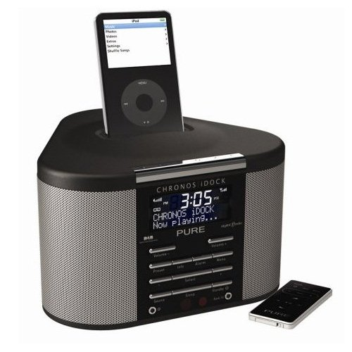 Pure Chronos iDock DAB Radiowecker (UKW-Tuner, Apple iPod Dock) schwarz