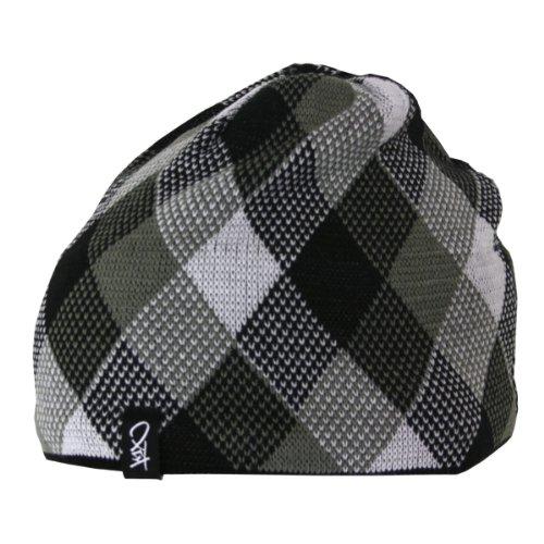 k1x-strick-mutze-check-beanie-black-white-grey-einheitsgrosse