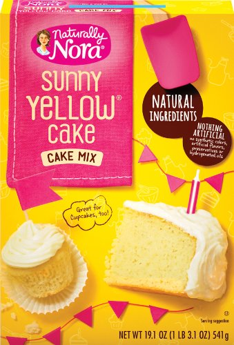 naturally nora sunny yellow cake mix 19 1 ounce boxes pack of 6