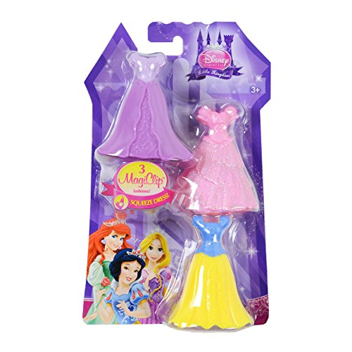 Disney Princess Little Kingdom Royal Fashions - 3 MagiClip Dresses - Snow White (Disney Clips compare prices)