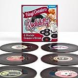"""6er Set Glasuntersetzer """"Rockabilly Schallplatten"""" - Vinyl Style Untersetzer"""