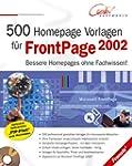 500 Homepage Vorlagen f�r FrontPage 2002