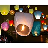 Multi Colors 50 PCS Festival Fire Sky Chinese Wishing Floating Lanterns For Birthday Party Wedding Outdoor