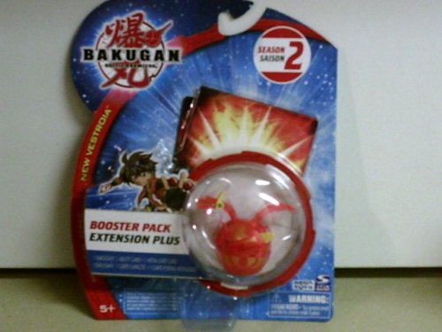 Bakugan New Vestroia Bakuneon Booster Pack- Red Pyrus Nova 1
