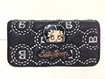 Classic Beauty Queen Betty Boop Long Trifold Wallet with Betty Boop Famous Frame