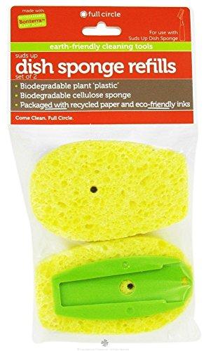 Full Circle - Suds Up Dish Sponge Refills Green - 2 Pack