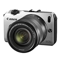 Canon EOS-M Mirrorless Digital Camera with EF-M 18-55mm f/3.5-5.6 IS STM Lens (Silver)