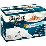 Purina Gourmet Perle Seaside Duo Wet Cat Food 12 x 85 g (Pack of 4)