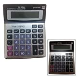 Mega Stationers Business Calculator Tilted Screen Easy to Read Big Display, Dual power battery and solar! Quiet and easy to use!