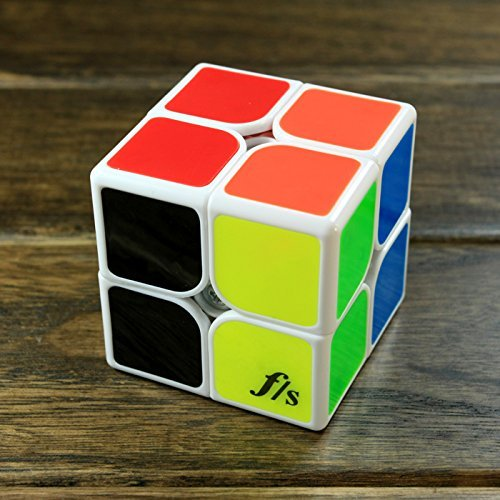 Funs Shishuang 55mm 2x2x2 Magic Cube Fangshi Puzzle Cube White - 1