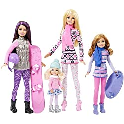 Mattel Barbie - Sisters Winter Holiday Fun Exclusive Dolls