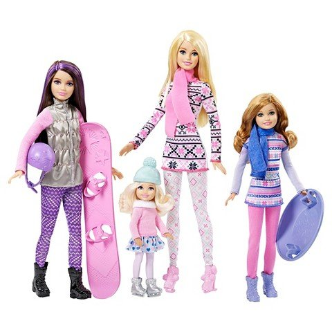 Mattel-Barbie-Sisters-Winter-Holiday-Fun-Exclusive-Dolls-by-Mattel-by-Mattel
