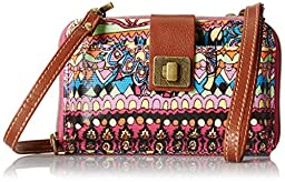Sakroots Artist Circle Smartphone Cross Body Bag, Orchid One World, One Size