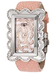 "Swisstek SK47801L Limited Edition Swiss Pink Diamond Watch With Mother-Of-Pearl Dial, Genuine Stingray ""Galuchat"" Strap And Sapphire Crystal"