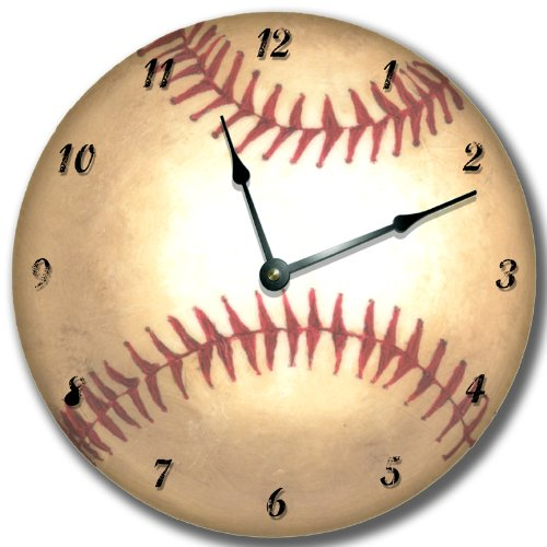 BASEBALL wall art clock novelty sport athletic large 10 1/2
