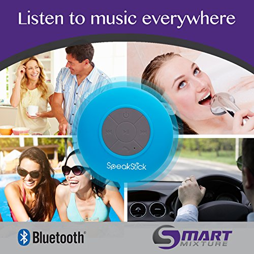SpeakStick Waterproof Bluetooth Shower Speaker - Talk Wireless & Listen to Music - With Lifetime Guarantee - Compatible with All Bluetooth Devices: Iphone, Galaxy, Ipad , Tablets & All Other Android Devices - The Highest Quality on the Market!