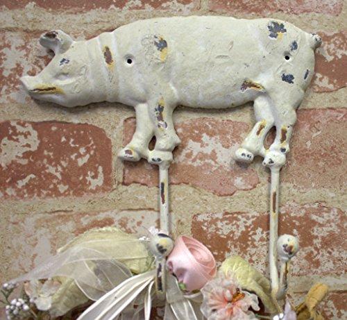 large-iron-pig-hog-wall-hook-vintage-distressed-white-double-coat-hanger
