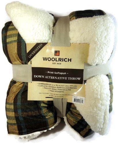 Woolrich Green Plaid Down Alternative Throw front-558904