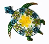 Continental Art Center CAC10120 Acrylic Beaded Flower Sea Turtle Wall Decor, 19.3 by 18.5 by 2-Inch