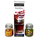 Hosley 100ML Highly Fragranced Reed Diffuser With 2 Free Premium Jar Candles - B013OWHVG6