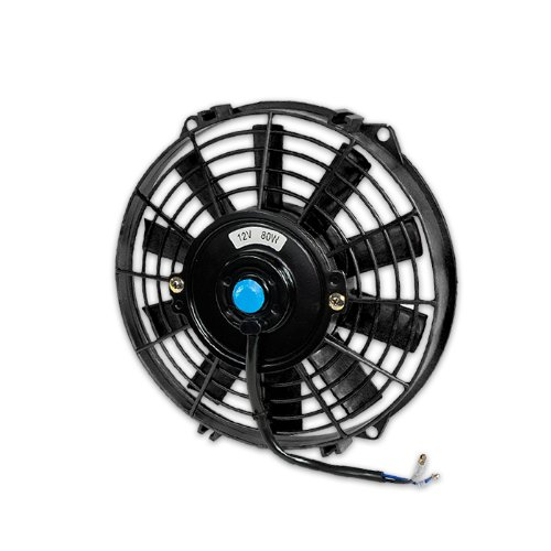 Dpt, Dpt-Raf-9+Fmk, 9 Inches Ten Blades Black Electric Radiator Cooling Slim Fan 3 Inches Thickness With Mounting Kit