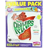 Fruit Roll-Ups Fruit Flavored Snacks, Variety Pack (Strawberry & Berry Berry Cool), 20-Count Rolls , Pack of 6 ~ Betty Crocker Fruit...