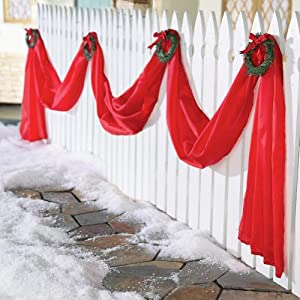 #!Cheap Christmas Fence Garland Decoration By Collections Etc
