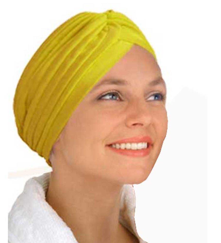 (カバーユアヘア)CoverYourHair イ○○ーターバン - 陽気な黄色で快適なターバン 【インポート】