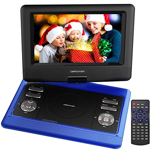 dbpower 10 5 inch portable dvd player with rechargeable. Black Bedroom Furniture Sets. Home Design Ideas