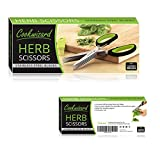 Cookwizard Stainless Steel Herb Scissors with Comfortable Design - Multipurpose Kitchen Shear with 5 Sharp Blades and Cleaning Comb in Premium Gift Box - Slice, Cut and Chop Vegetables Fast