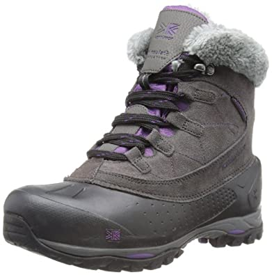 Karrimor Womens Snowfur II Weathertite Trekking and Hiking Boots K517-BSP Black Sea/Purple 4 UK, 37 EU, 5 US