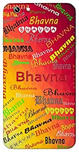 Bhavna (Popular Girl Name) Name & Sign Printed All over customize & Personalized!! Protective back cover for your Smart Phone : Samsung Galaxy S4mini / i9190