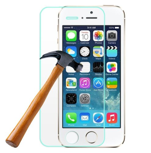Zzybia® 0.26Mm Ultra-Thin Tempered Glass Screen Protector For Apple Iphone5 5S With 9H Hardness Perfect Anti-Scratch/Shatterproof/ Oleophobic Coating Resists Fingerprint & Water & Oil Resistant