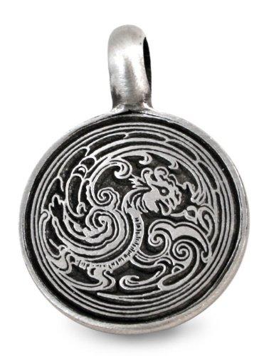 Cloud Dragon Pewter Medallion Pendant