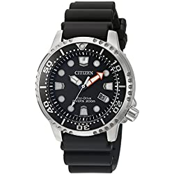 Citizen Men's 'Promaster Diver' Quartz Stainless Steel and Polyurethane Diving Watch, Color:Black (Model: BN0150-28E)