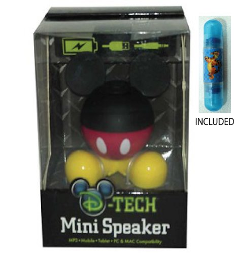 Disney Parks Mickey Body Parts Mini Speaker - Disney Parks Exclusive & Limited Availability + Tigger Double Sided Stamp Included