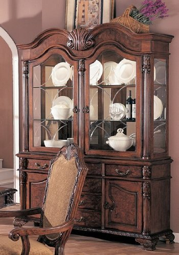 Cheap Saint Charles Traditional European Style Solid Wood China Cabinet Buffet Hutch (B000EBMKDA)