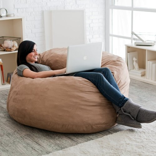 Marvelous 4Ft Microsuede Fuf Foam Bean Bag Chair Xcbghdsfsdffggh Dailytribune Chair Design For Home Dailytribuneorg