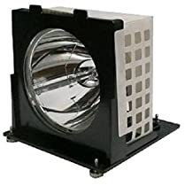 """Electrified 915P020010-""""O"""" Replacement Lamp with Compatible Housing and Factory Original Bulb for Mitsubishi Televisions"""