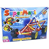 Plastwood Supermaxi Wheels Race Car, Multi Color (76 Pieces)